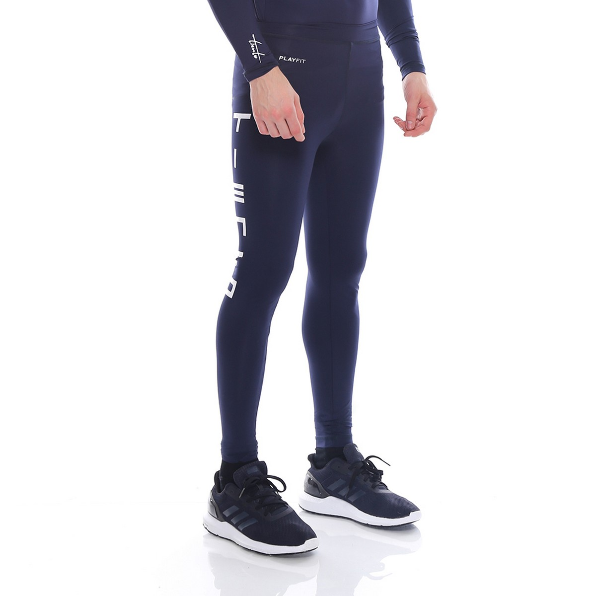 Celana Legging Sport Long Pants Typotype Navy Men Tiento