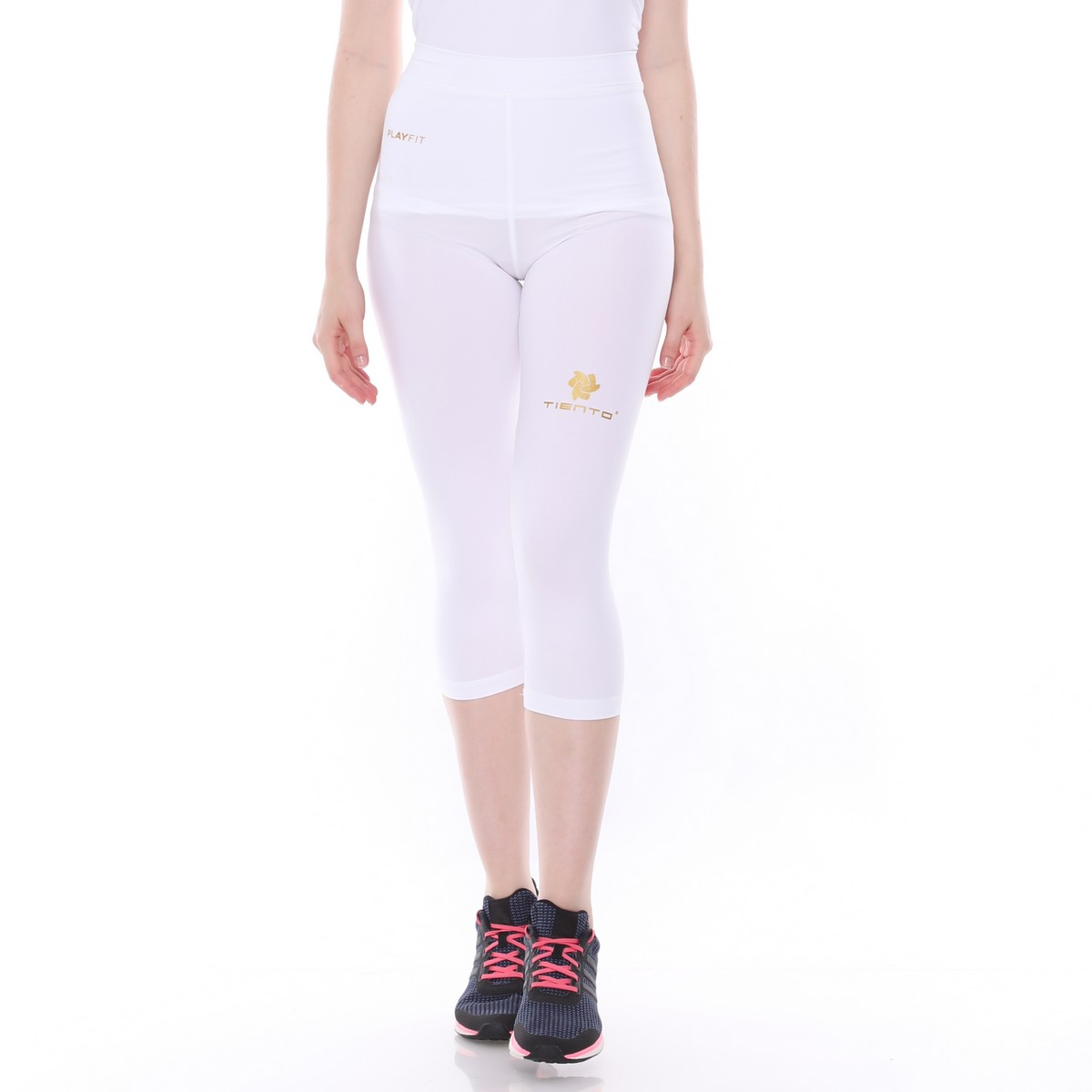 Celana Legging Sport 3 4 Pants White Women Tiento