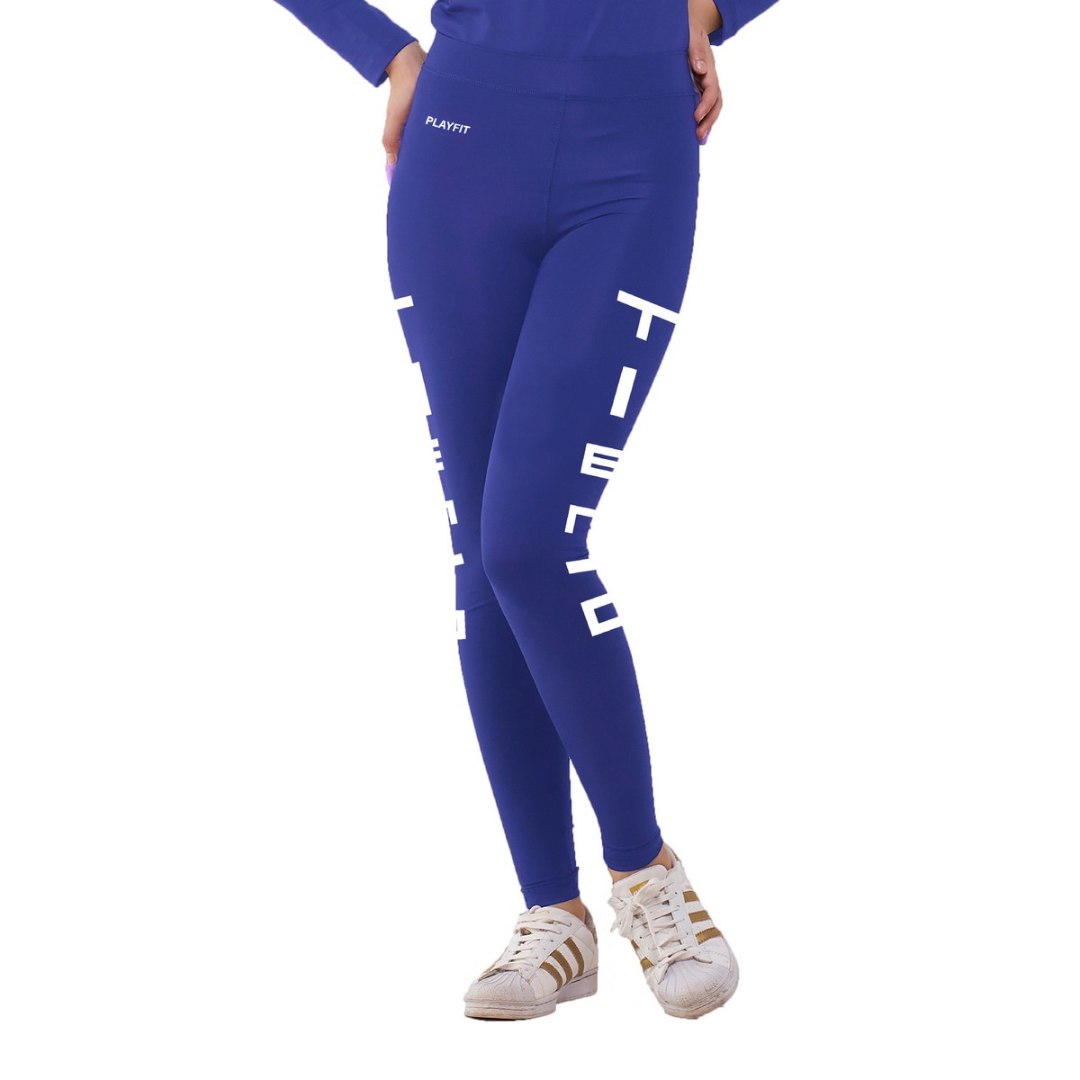 Celana Legging Sport Long Pants Typotype Blue Women Tiento