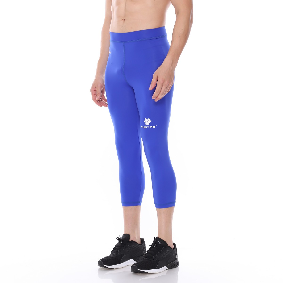 Celana Legging Sport 3 4 Pants Blue Men Tiento