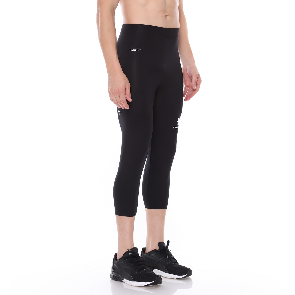 Celana Legging Sport 3 4 Pants Black White Men Tiento