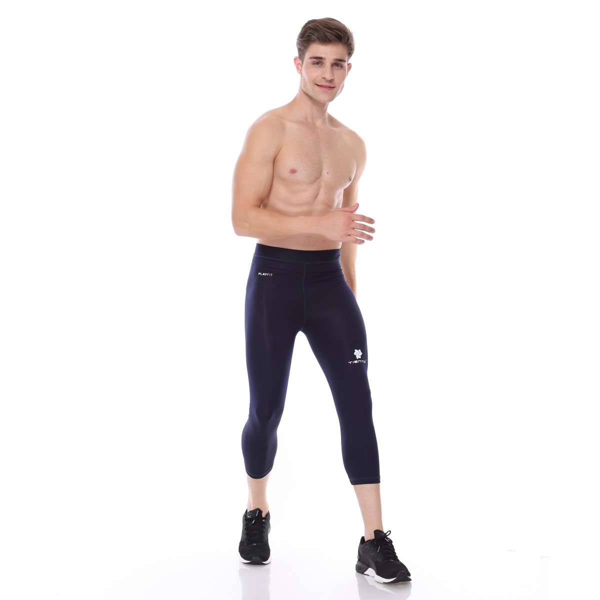 Celana Legging Sport 3 4 Pants Navy Men Tiento