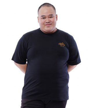 Tiento Kaos Kasual Olahraga Hitam T-Shirt Special Edition Casual Sport Running Fitness Gym Japanese Yellow Mount Black Big Size