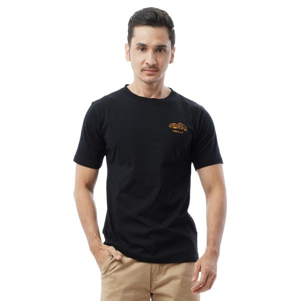 Tiento Kaos Kasual Olahraga Hitam T-Shirt Special Edition Casual Sport Running Fitness Gym Japanese Yellow Mount Black